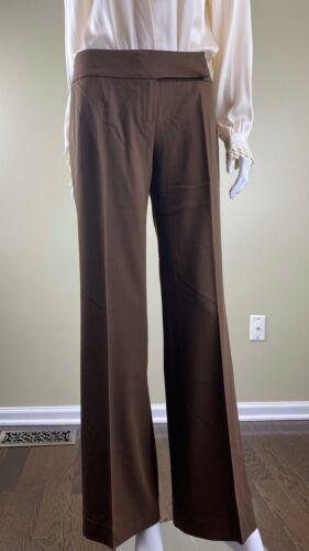 Plein Sud Brown Wool Wide Legs Pants 42, Italy