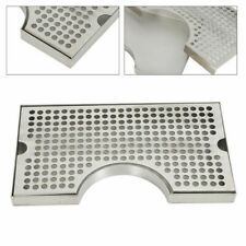 Stainless Tap Draft Beer Kegerator Tower Drip Tray Surface Mount No Drain Holes
