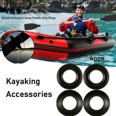 4x Kayak Paddle Drip Rings Guards Universal Keeps Dry Shafts//Hands Paddle T7X4