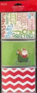 Set-of-3-Assorted-Christmas-4x6-in-Photo-Albums-One-Holds-24-pictures-NEW-B