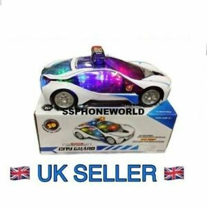 Kids-Bump-amp-Go-Police-Motor-Car-With-Flashing-Light-amp-Sound-battery-operated-toy