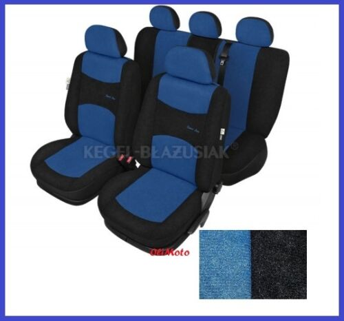 Blue Sport Line Tailored Full Set Seat Car Covers for VW Tiguan 2007-2015