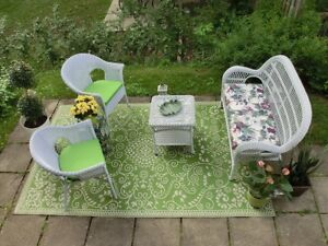 Fab Habitat Indoor Outdoor Recycled Plastic Rug Murano Green