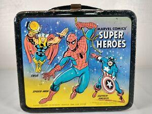1976 Marvel Comics Super Heroes Metal Lunchbox Spiderman