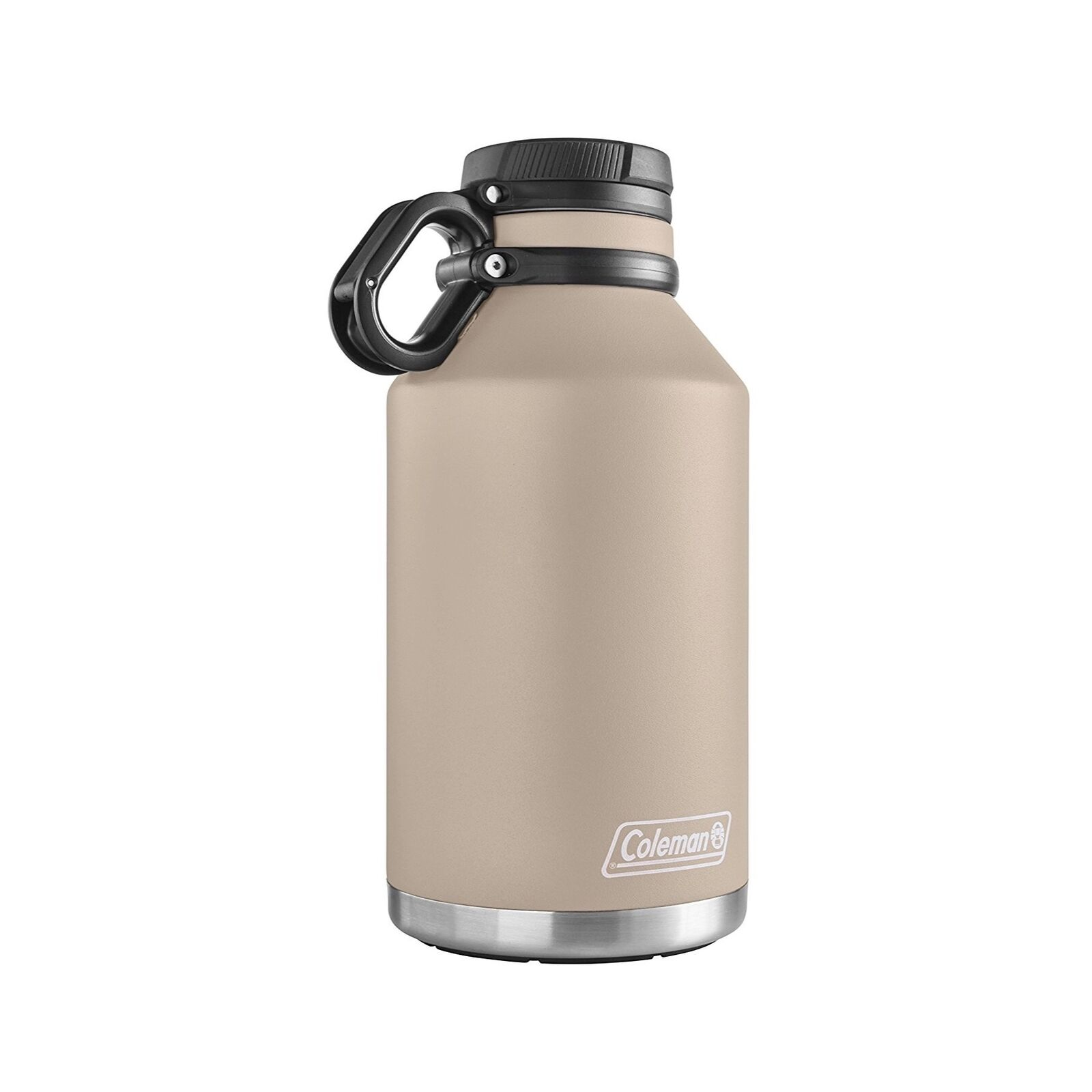 Coleman Stainless Steel Growler 64oz Sandstone Tan Vacuum Insulated Water Bottle