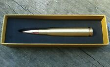 ENGRAVED / PERSONALIZED FREE.50 Caliber Bullet Pen (Brass)