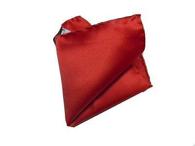 Fazzoletto Da Taschino Per Bambino Rosso Tinta Unita Bimbo Bordi Rifiniti A Mano L'Ultima Moda
