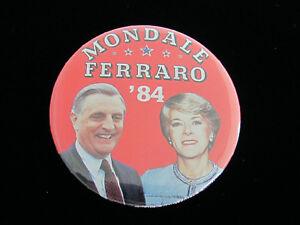 Presidential Pin Back New Hampshire Mondale Ferraro Political Campaign Button