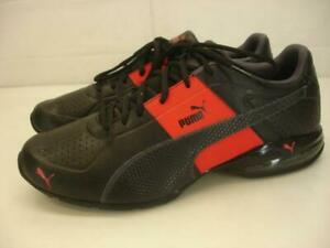 PUMA-Men-039-s-10-5-M-Cell-Surin-2-Black-Red-Leather-Shoes-Sneaker-Cat-Cross-Trainer