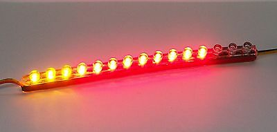 "Flexible LED Motorcycle Light Bar with Brake and Turn Signals; 5.9"" ST393ARACPT"