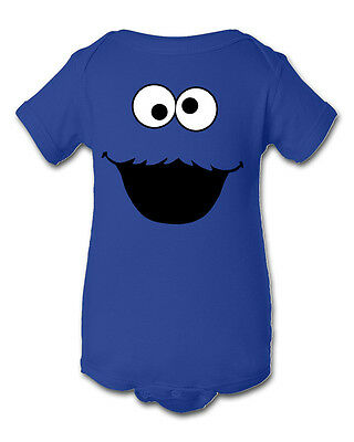 Cookie Monster Inspired Infant Baby Newborn One Piece Crawler Halloween Costume