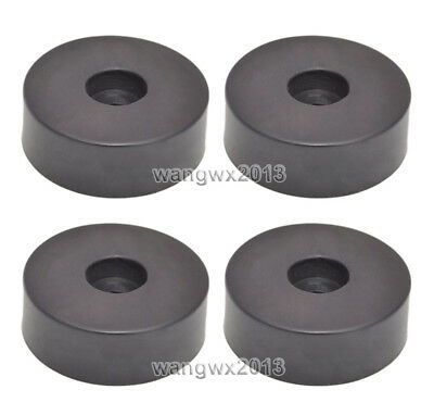 4pcs Speaker Shock Spike Foot Pad Isolation Floor Base Stand Rubber Pad Φ30x20mm