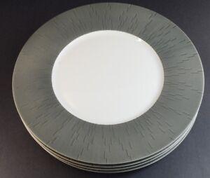 Haviland-Infini-Dinnerware-Limoges-Porcelain-Dinner-Plates-ANTHRACITE-SET-OF-4