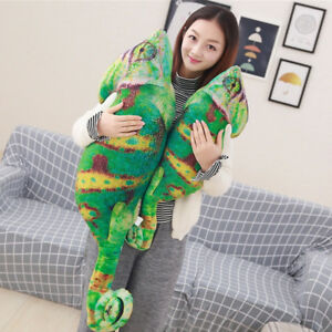 Simulation-Chameleon-Plush-Toys-Stuffed-Lizard-Animals-Cartoon-Pillow-Doll-UK