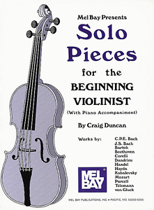 "/""SOLO PIECES FOR THE BEGINNING VIOLINIST/"" W//PIANO ACCOMPANIMENT MUSIC BOOK-NEW!!"
