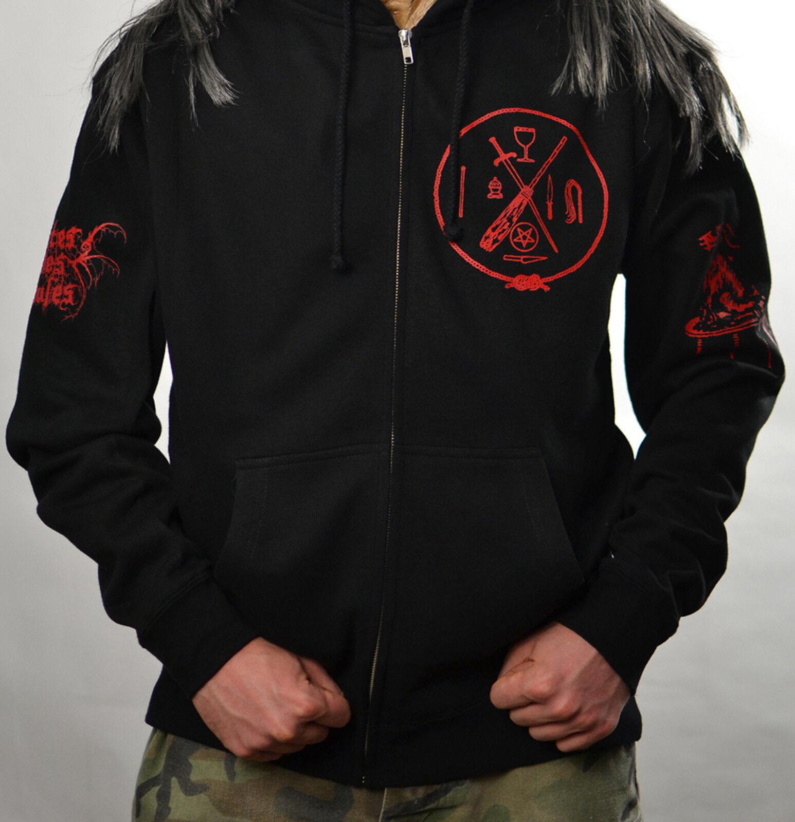 Cultes Des Ghoules Haxan 2008 Album Cover Zipper Sweatshirt