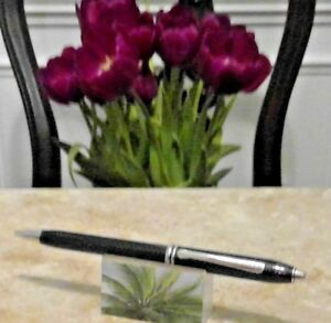 Cross Townsend clear Lacquer with Chrome appointments Ballpoint Pen free ship