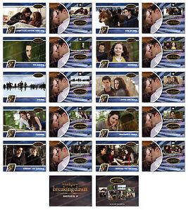 Twilight Breaking Dawn Part 2 SERIES 2 Trading Card Set ~ Rare ~ NEW