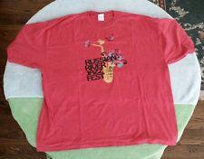 2009 Russian River Jazz Festival CA T-Shirt Size 3XL Raspberry Red Al Jarreau
