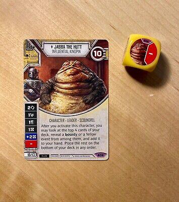 JABBA THE HUTT #36 Card /& Die Star Wars Destiny Convergence Legendary NEW