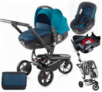 Brand Jane Trider Matrix Travel System Teal With Isofix Base Bag & Raincover
