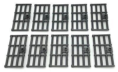 City Jail Parts Lego X8 White Frame 1x4x6 W// Light Bluish Gray Barred Bar Door