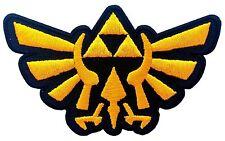 Legend of Zelda Hyrule's Royal Crest Gold Logo Iron on Patch