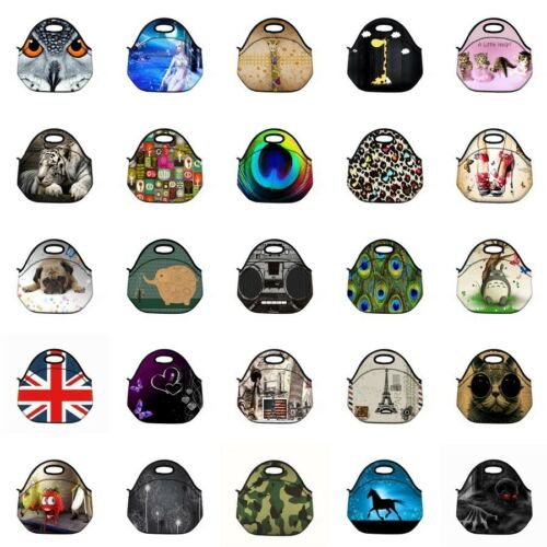 Cool Portable Travel Picnic Food Bag Insulated Lunch Tote Bag Neoprene Handbag