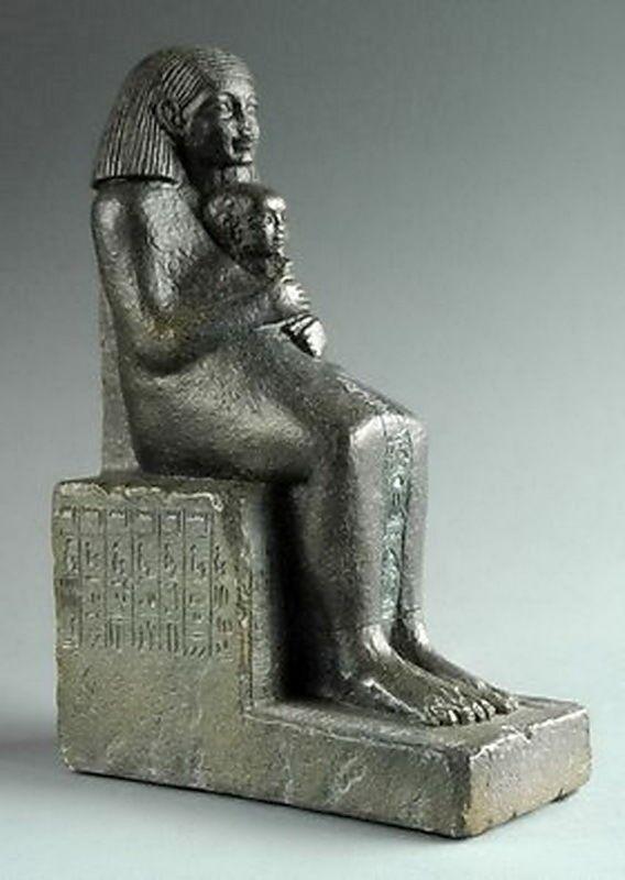 Art Egypt eg02 Senenmut con princesa parastone museo escultura coleccionista personaje