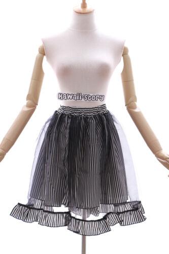 Jl-597 Noir Black punk Kei Harajuku tutu jupe gothique lolita stretch