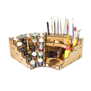 Model Painting Corner Paint and Tool Rack Kit 90° (Vallejo, Citadel, Model)