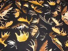 ELK HORNS WILD IN THE WILDERNESS RIVERWOODS on COTTON FABRIC Priced By The Yard