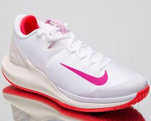 78ad29e43e Nike Court Air Zoom Zero HC Women's New White Fuchsia Tennis Shoes ...