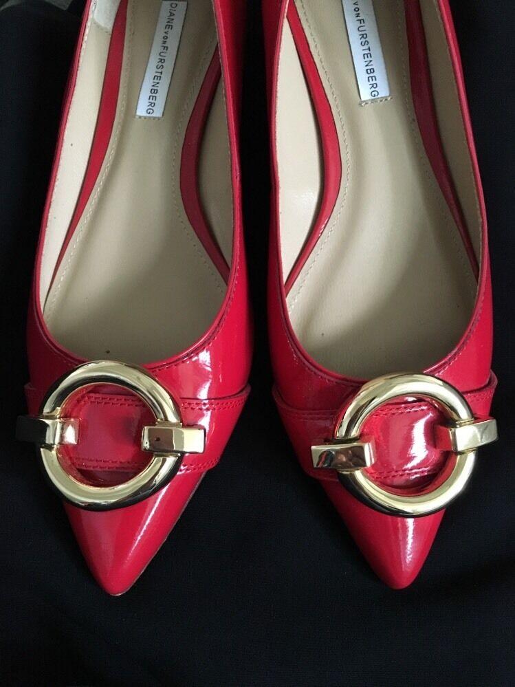 DVF DVF DVF Diane Von Furstenberg Darcey Pointed Toe Flats shoes - NEW Size 7 15d516