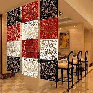 1pcs Hanging Screen Partition Room Divider Butterfly Flower Wall Home Sticker A.