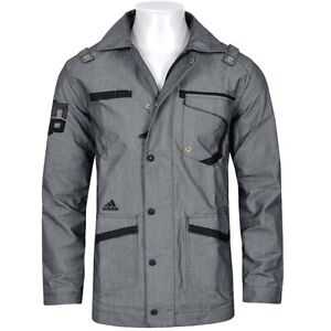 Details about Adidas Dwight Jacket Mens Parka Jacket Coat Trench Coat Miltary GreyBlack show original title