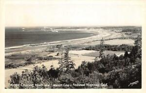 RPPC-Crescent-Beach-amp-Crescent-City-Redwood-Highway-CA-c1950s-Vintage-Postcard