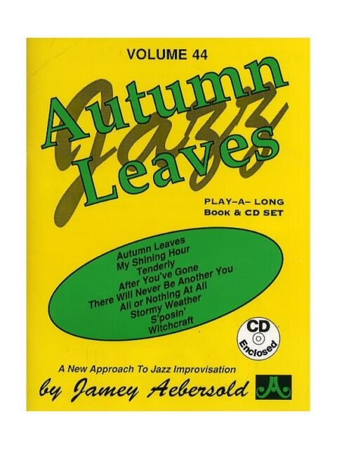 Aebersold Vol  44 Autumn Leaves Piano Vocal & Guitar Sheet Music CD Backing  T