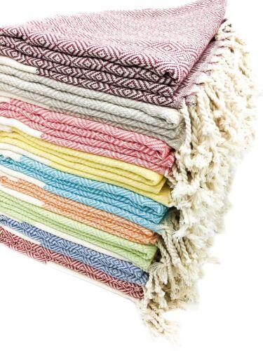 Set of 10 Soft Large Quick Dry 100/% Turkish Cotton Beach Bath Lounge Spa Towel