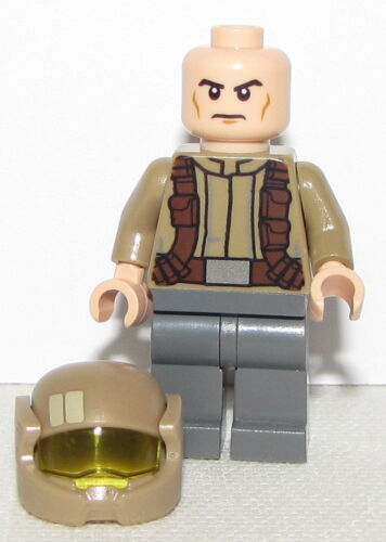Lego New Star Wars Minifigure Resistance Trooper Dark Tan Jacket from Set 75140