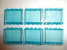 LEGO   6  große  transparente  hellblaue  Wandelemente  1 x 4 x 3    NEUWARE