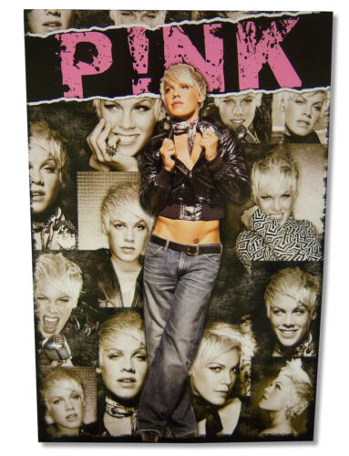 Pink P!Nk Scarf Portraits Image Glossy Wall Poster 24X35 New Official Merch