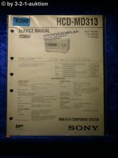 Sony Service Manual HCD MD313 Mini Component System (#6200)