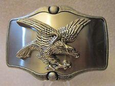 NEW AMERICAN BALD EAGLE BELT BUCKLE 4.0 X 2.750 POLISHED METAL VIC-THOR1