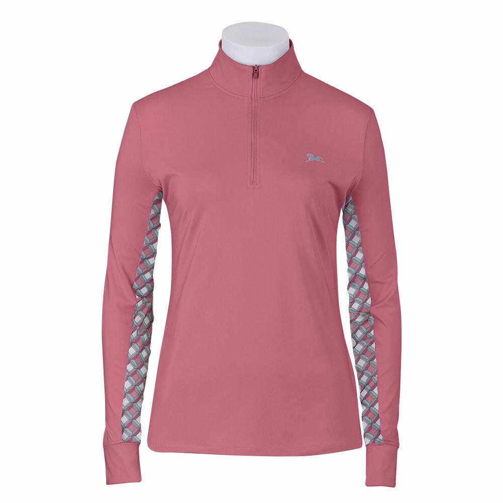 EL305 RJ Classics donna' Ella Schooling Shirt Hibiscus Long Sleeve NEW