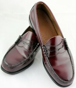 Bass Weejuns Larson Mens 12 D Leather Penny Loafers ...
