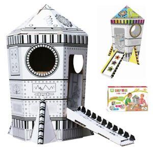 Details Zu Spielhaus Rakete Zum Anmalen Basteln Spielzeug Kinderzimmer Zeichnen Kreativität