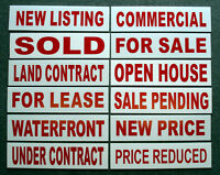 (12) 6 X 24 Real Estate Sign Riders 2 Sided Outdoor New-- Free Shipping