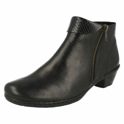 76961 Ankle Rieker Ladies Black Boots HFBwwpxnq