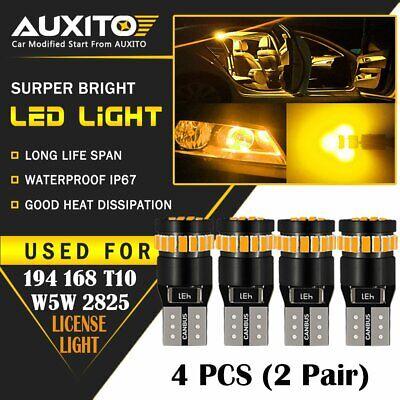 10 PC T10 194 168 2825 CANBUS License Plate Side Marker Light White LED Bulb EOA
